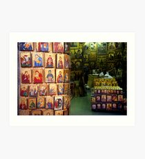 Shop with icons Art Print