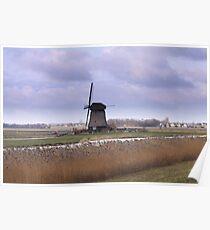 Wind Mill at Schermerhorn  Poster