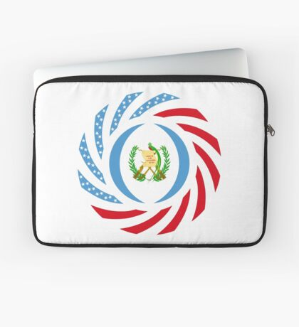 Guatemalan American Multinational Patriot Flag Series Laptop Sleeve