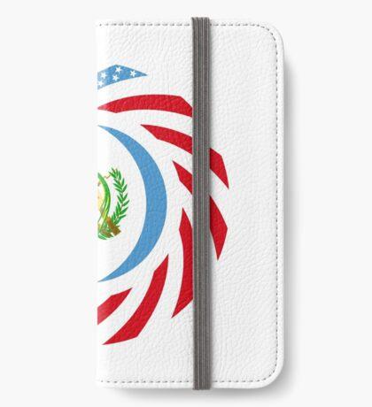 Guatemalan American Multinational Patriot Flag Series iPhone Wallet