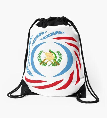 Guatemalan American Multinational Patriot Flag Series Drawstring Bag