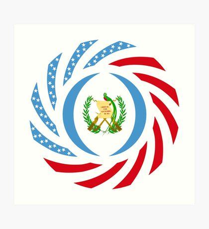 Guatemalan American Multinational Patriot Flag Series Art Print