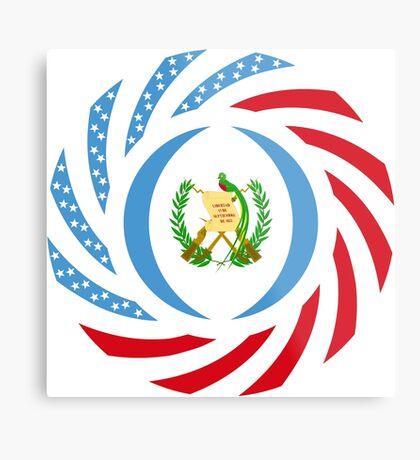 Guatemalan American Multinational Patriot Flag Series Metal Print
