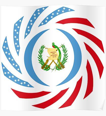 Guatemalan American Multinational Patriot Flag Series Poster
