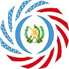 Guatemalan American Multinational Patriot Flag Series by Carbon-Fibre Media