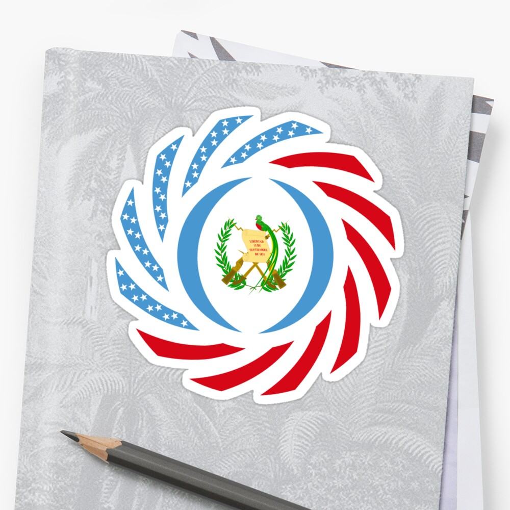 Guatemalan American Multinational Patriot Flag Series Sticker
