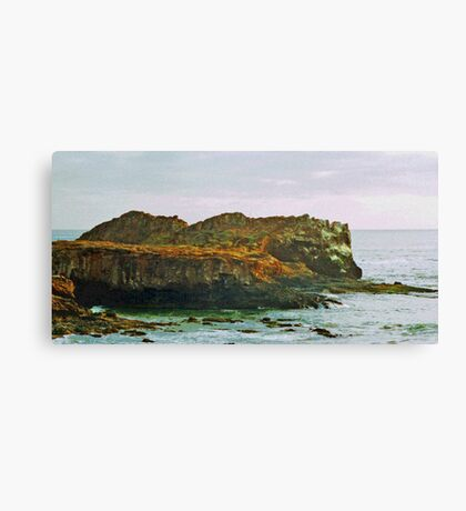 Coastal Cliffs photo painting Canvas Print