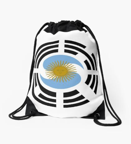 Korea Argentinian Multinational Patriot Flag Series Drawstring Bag