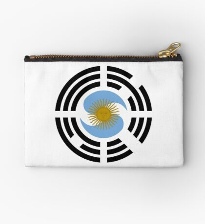 Korea Argentinian Multinational Patriot Flag Series Zipper Pouch