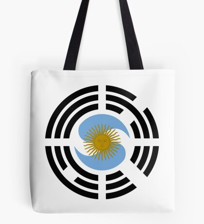 Korea Argentinian Multinational Patriot Flag Series Tote Bag