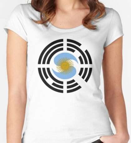 Korea Argentinian Multinational Patriot Flag Series Fitted Scoop T-Shirt