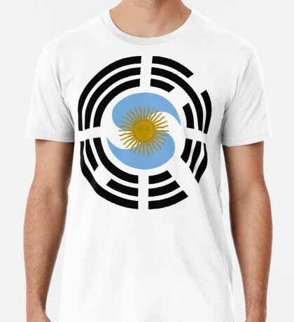 Korea Argentinian Multinational Patriot Flag Series Premium T-Shirt