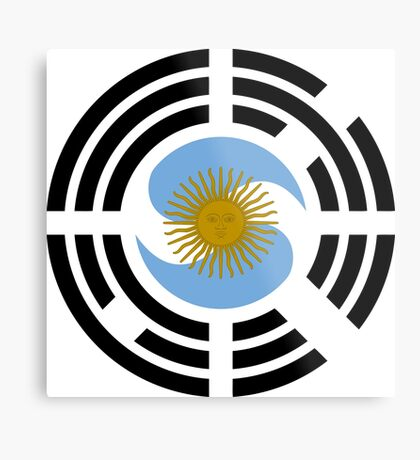 Korea Argentinian Multinational Patriot Flag Series Metal Print