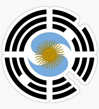Korea Argentinian Multinational Patriot Flag Series Sticker