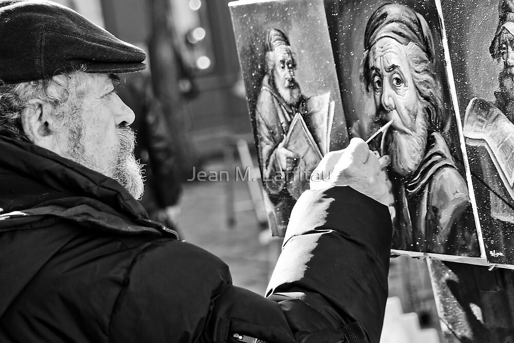 The painter by Jean M. Laffitau