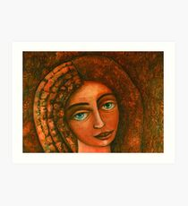 Flora, Goddess of the Seeds closer  Art Print