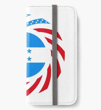 Honduran American Multinational Patriot Flag Series iPhone Wallet