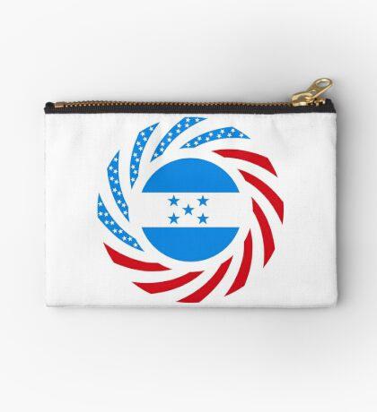 Honduran American Multinational Patriot Flag Series Zipper Pouch