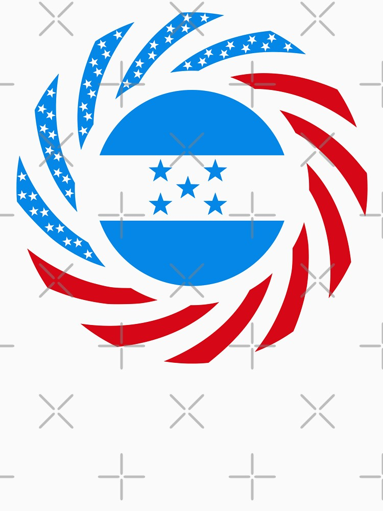 Honduran American Multinational Patriot Flag Series by carbonfibreme