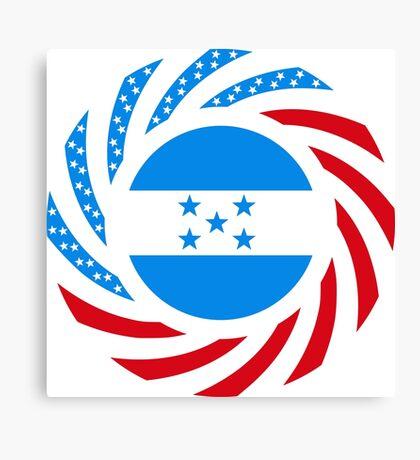 Honduran American Multinational Patriot Flag Series Canvas Print