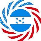 Honduran American Multinational Patriot Flag Series by Carbon-Fibre Media