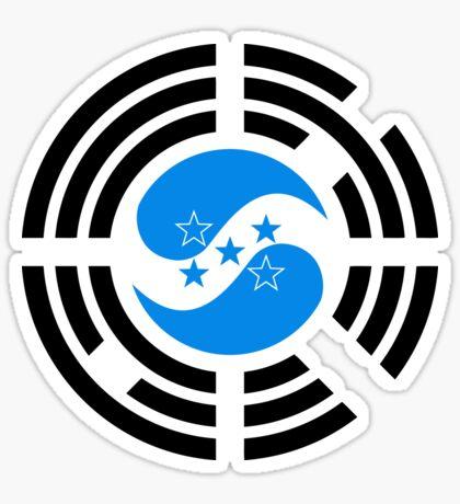 Korean Honduran Multinational Patriot Flag Series Sticker