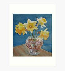 Daffodils and Marbles Art Print