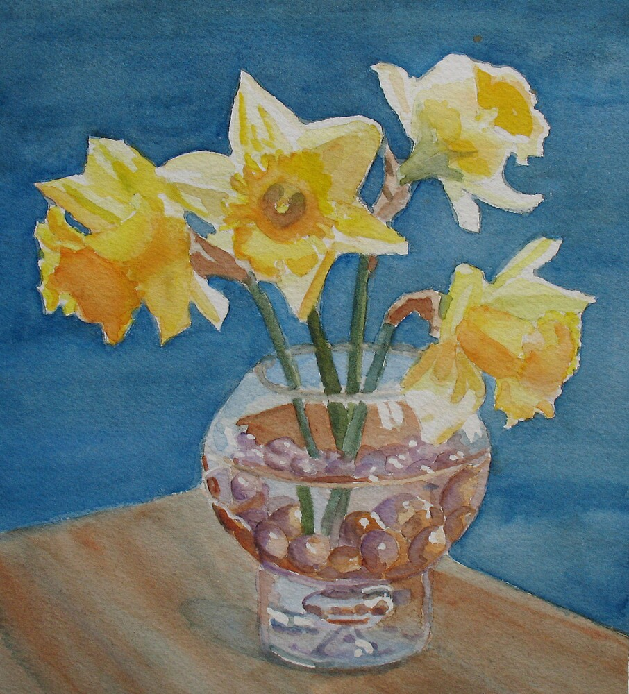 Daffodils and Marbles by JennyArmitage