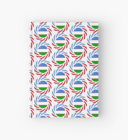 Uzbekistani American Multinational Patriot Flag Series Hardcover Journal