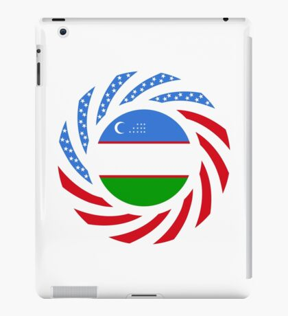 Uzbekistani American Multinational Patriot Flag Series iPad Case/Skin