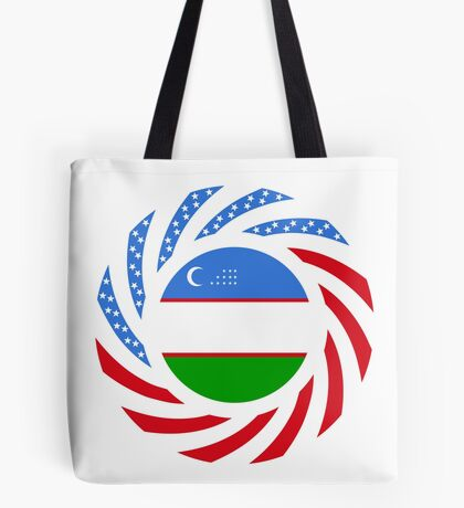 Uzbekistani American Multinational Patriot Flag Series Tote Bag