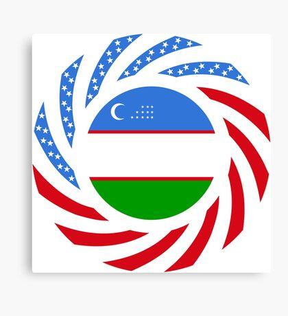 Uzbekistani American Multinational Patriot Flag Series Canvas Print