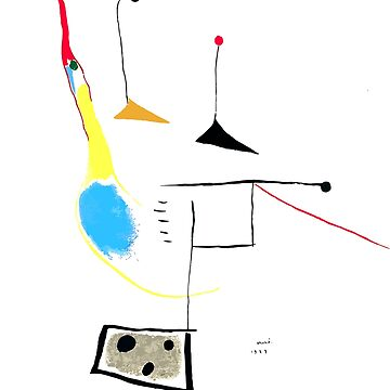 Joan Miro Painting On White Ground, 1927 Artwork, Prints, Posters, Tshirts, Bags, Men, Women, Kids by clothorama