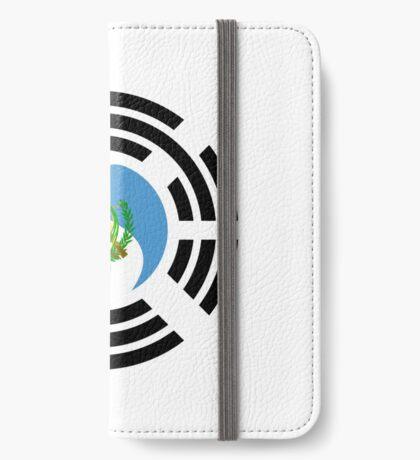 Korean Guatemalan Multinational Patriot Flag Series iPhone Wallet