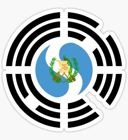 Korean Guatemalan Multinational Patriot Flag Series Sticker