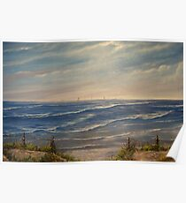 """""""Fanore Beach - County Clare"""" - oil painting Poster"""