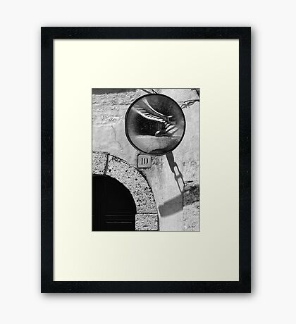 Staircase reflection Framed Print