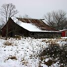 Red Barn in Winter... by BransonPhotos