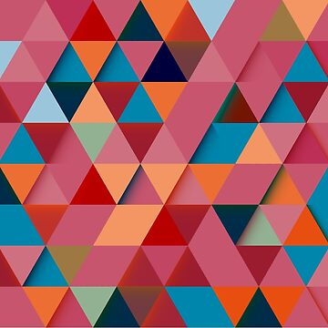 Colorfull abstract darker triangle pattern by aceofspades81