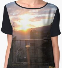 #town, #morning, #house, #sunlight, #tree, #sunset, #outdoors, #architecture Chiffon Top