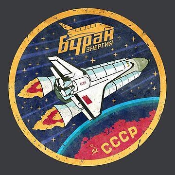 CCCP Buran Space Travel by Lidra