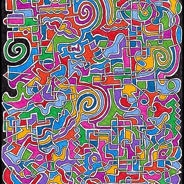 Colorful Shapes Maze by gorff