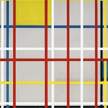 Piet Mondrian, New York City, 3 (unfinished) 1941 Artwork, Prints, Posters, Tshirts, Bags, Men, Women, Kids by clothorama