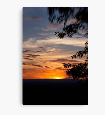 Sunset at The Bluff Canvas Print