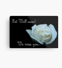Get well soon Card Metal Print