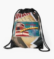 Greetings From Storybrooke Post Card Drawstring Bag