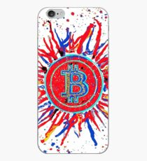 'Bitcoin Explosion' in red.  iPhone Case