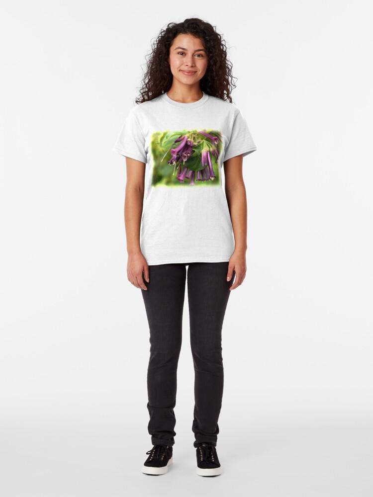 Alternate view of Purple Iochroma Flowers Classic T-Shirt