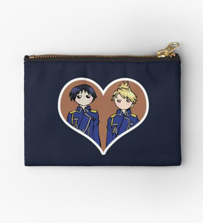 Roy and Riza - shipping dolls Zipper Pouch