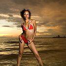 St Kilda beach model shoot 1  by Stephen Colquitt